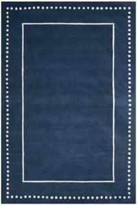 Navy Blue, Ivory (G) Bella BEL-151 Contemporary / Modern Area Rugs