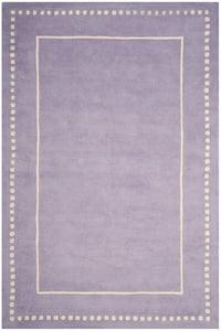 Lavender, Ivory (C) Bella BEL-151 Contemporary / Modern Area Rugs