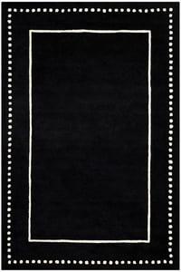 Black, Ivory (E) Bella BEL-151 Contemporary / Modern Area Rugs
