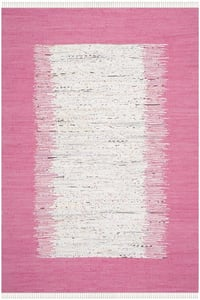 Ivory, Pink (A) Montauk MTK-711 Bohemian Area Rugs