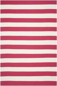 Red, White (B) Montauk MTK-712 Striped Area Rugs