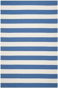 Blue, White (C) Montauk MTK-712 Striped Area Rugs