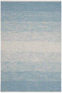 Blue, Ivory (B) Montauk MTK-601 Contemporary / Modern Area Rugs