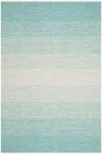 Turquoise, Ivory (E) Montauk MTK-601 Contemporary / Modern Area Rugs