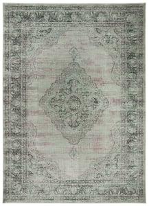 Grey (110) Vintage VTG-112 Traditional / Oriental Area Rugs
