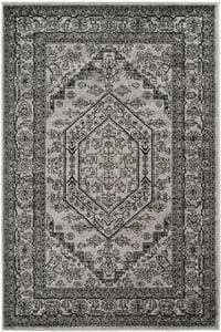 Silver, Black (A) Adirondack ADR-108 Traditional / Oriental Area Rugs