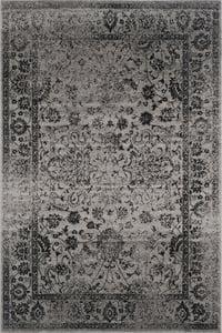 Grey, Black (B) Adirondack ADR-109 Vintage / Overdyed Area Rugs