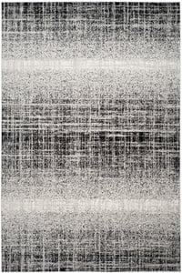 Silver, Black (A) Adirondack ADR-116 Contemporary / Modern Area Rugs