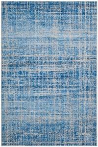 Blue, Silver (D) Adirondack ADR-116 Contemporary / Modern Area Rugs
