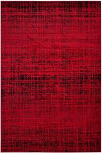 Red, Black (F) Adirondack ADR-116 Contemporary / Modern Area Rugs