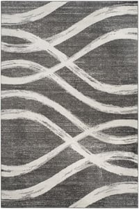 Charcoal, Ivory (R) Adirondack ADR-125 Contemporary / Modern Area Rugs