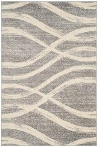 Grey, Cream (B) Adirondack ADR-125 Contemporary / Modern Area Rugs