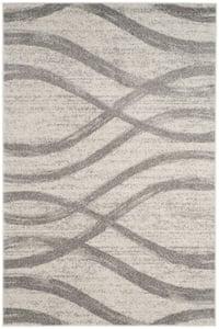 Cream, Grey (C) Adirondack ADR-125 Contemporary / Modern Area Rugs