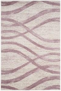 Cream, Purple (L) Adirondack ADR-125 Contemporary / Modern Area Rugs