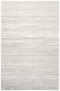 Ivory, Silver (B) Adirondack ADR-113 Contemporary / Modern Area Rugs