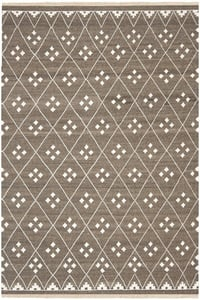 Brown, Ivory (A) Natural Kilim NKM-316 Moroccan Area Rugs