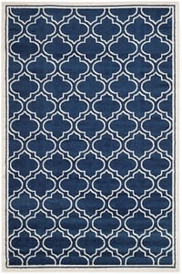 Navy, Ivory (P) Amherst AMT-412 Contemporary / Modern Area Rugs