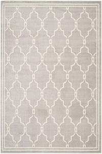 Light Grey, Ivory (B) Amherst AMT-414 Contemporary / Modern Area Rugs