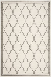 Ivory, Grey (K) Amherst AMT-414 Contemporary / Modern Area Rugs