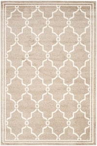 Wheat, Beige (S) Amherst AMT-414 Contemporary / Modern Area Rugs