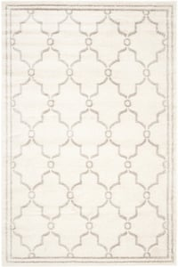 Ivory, Light Grey (E) Amherst AMT-414 Contemporary / Modern Area Rugs