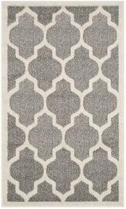Dark Grey, Beige (R) Amherst AMT-420 Contemporary / Modern Area Rugs