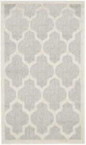 Light Grey, Beige (B) Amherst AMT-420 Contemporary / Modern Area Rugs
