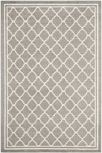 Dark Grey, Beige (R) Amherst AMT-422 Contemporary / Modern Area Rugs
