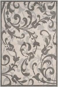 Ivory, Grey (K) Amherst AMT-428 Floral / Botanical Area Rugs