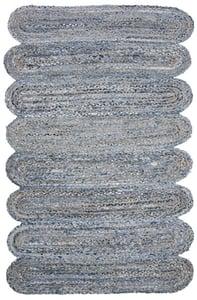 Blue, Natural (L) Cape Cod CAP208 Bohemian Area Rugs