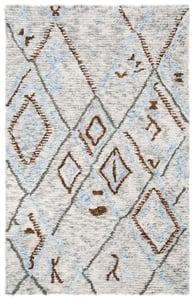 Grey, Blue (F) Casablanca CSB-637 Moroccan Area Rugs