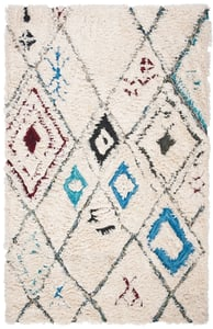 Ivory, Chocolate (H) Casablanca CSB-637 Moroccan Area Rugs
