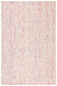 Ivory, Pink (U) Abstract ABT-473 Abstract Area Rugs
