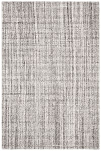 Grey, Black (F) Abstract ABT-604 Contemporary / Modern Area Rugs