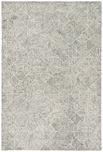 Light Green (Y) Abstract ABT-763 Abstract Area Rugs