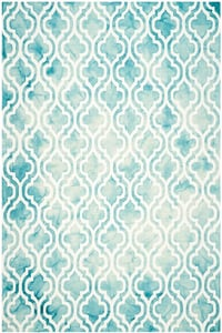 Turquoise, Ivory (D) Dip Dye DDY-537 Contemporary / Modern Area Rugs