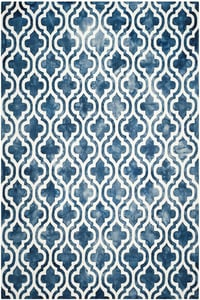Navy, Ivory (N) Dip Dye DDY-537 Contemporary / Modern Area Rugs
