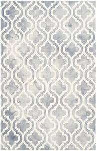 Grey, Ivory (C) Dip Dye DDY-537 Contemporary / Modern Area Rugs
