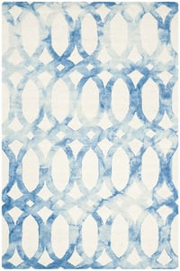 Ivory, Blue (A) Dip Dye DDY-675 Contemporary / Modern Area Rugs