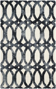 Ivory, Graphite (D) Dip Dye DDY-675 Contemporary / Modern Area Rugs