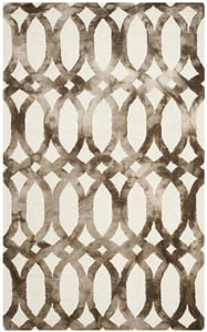 Ivory, Chocolate (E) Dip Dye DDY-675 Contemporary / Modern Area Rugs