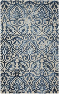 Royal Blue, Beige (K) Dip Dye DDY-511 Contemporary / Modern Area Rugs