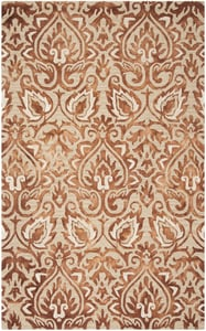 Copper, Beige (Q) Dip Dye DDY-511 Contemporary / Modern Area Rugs