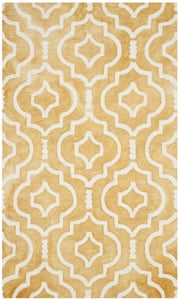 Gold, Ivory (H) Dip Dye DDY-538 Contemporary / Modern Area Rugs
