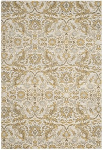 Ivory, Gold (S) Evoke EVK-238 Traditional / Oriental Area Rugs