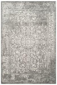 Grey, Ivory (D) Evoke EVK-256 Vintage / Overdyed Area Rugs