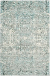 Teal (A) Mystique MYS-971 Vintage / Overdyed Area Rugs