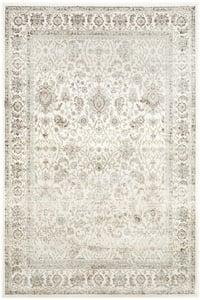 Iron, Silver (E) Persian Garden PEG-607 Traditional / Oriental Area Rugs