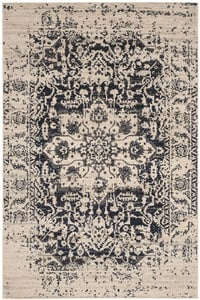 Cream, Navy (D) Madison MAD-603 Vintage / Overdyed Area Rugs