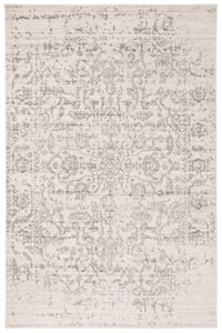 Silver, Ivory (G) Madison MAD-603 Vintage / Overdyed Area Rugs